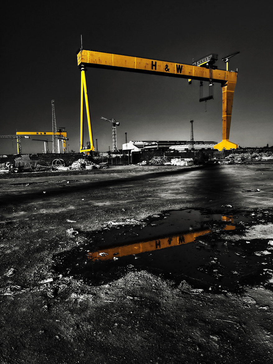 Photograph Harland and Wolff, Belfast Shipyard  by Alastair Stockman on 500px