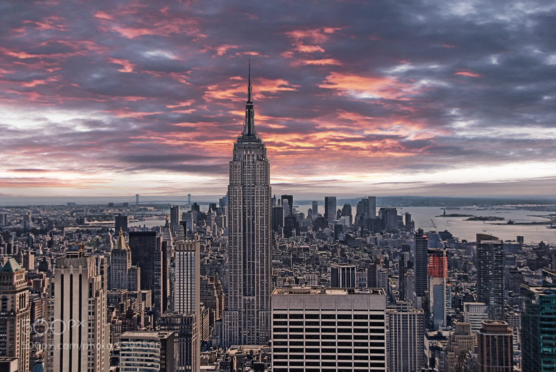 Photograph Manhattan under a red sky by Joachim G.  Pinkawa on 500px