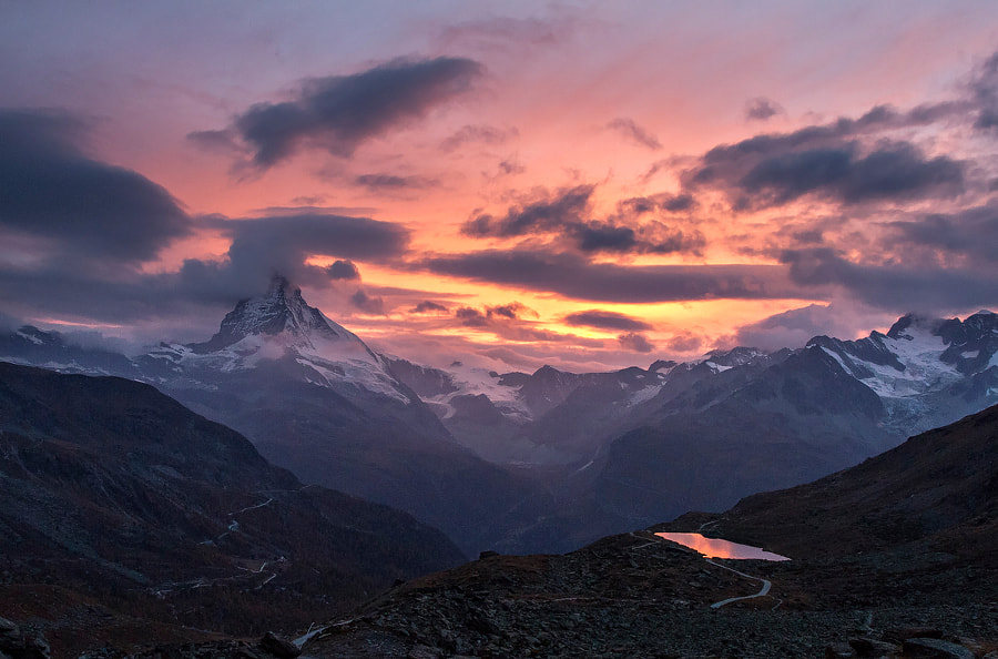 Fire at Matterhorn by Lazar Ovidiu on 500px.com