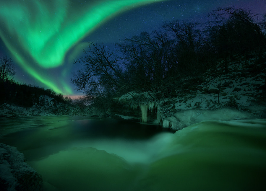 Ghost River Aurora by Arild Heitmann on 500px.com