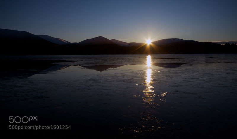 Sunset, Loch Morlich, Cairngorm National Park, Scottish Highlands