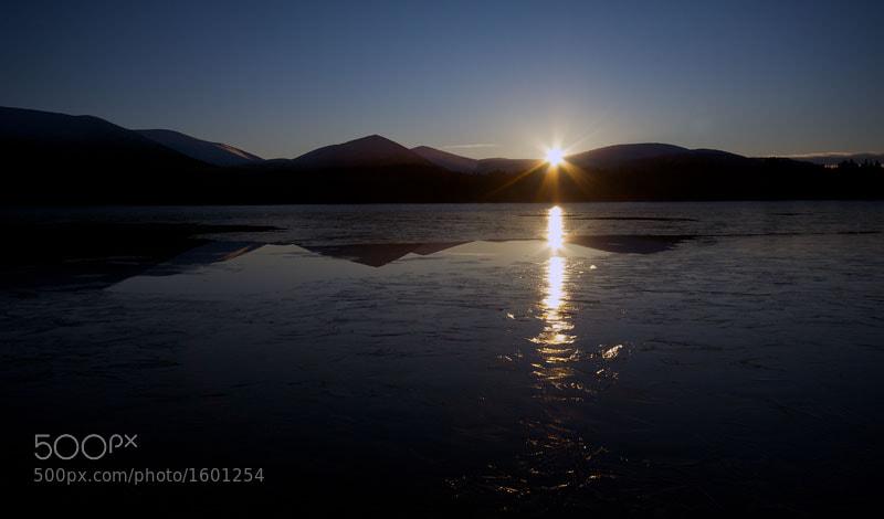 Sunset, Loch Morlich, Cairngorm National Park, Scottish Highlands