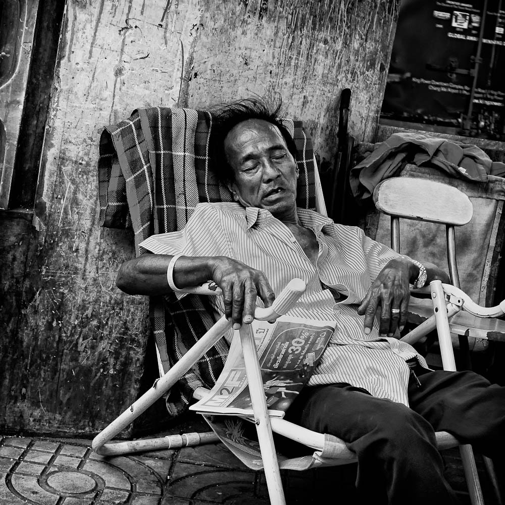 Photograph Sleeping seller. by Jim Best on 500px