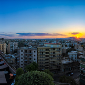 athens rooftop sunset by chris mcclanahan