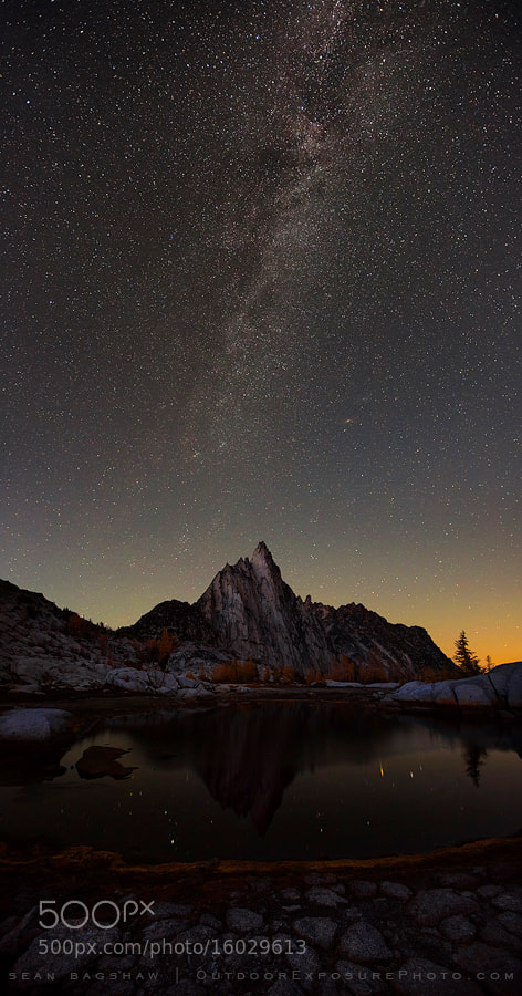 Photograph Prusik Peak and the Galaxy by Sean Bagshaw on 500px