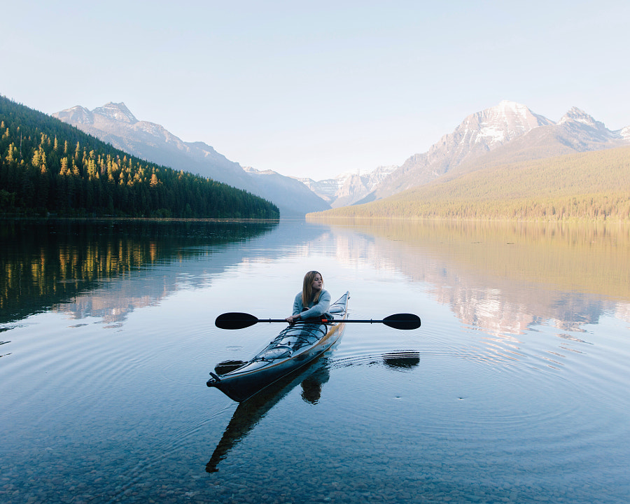 Bowman Lake Afternoon by Alex Strohl
