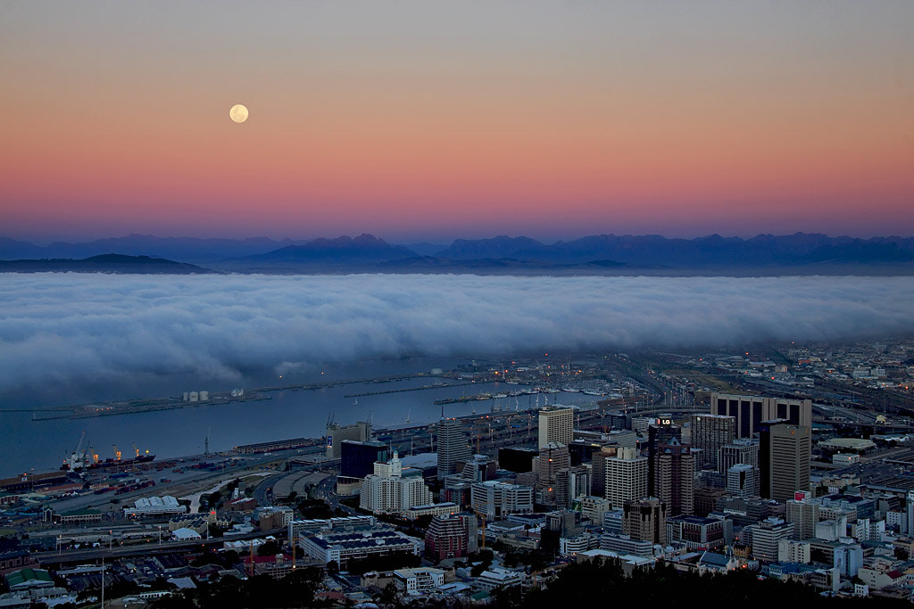 Photograph Moonrise Over Cape Town  by Jacques  Bartie on 500px