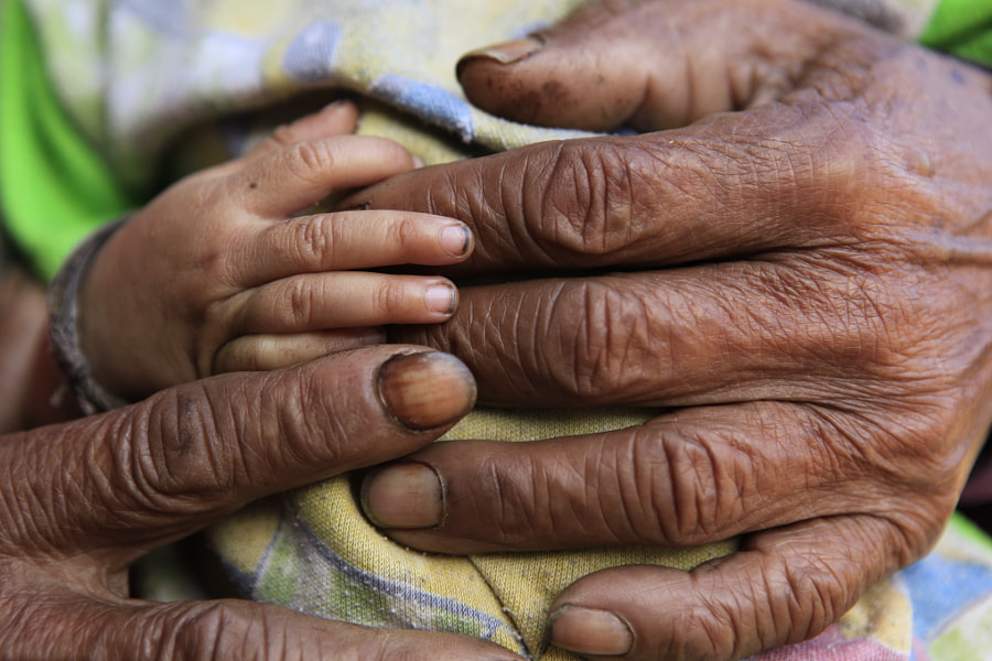 Old hand and young hand holding. by MERCEDESS on 500px.com