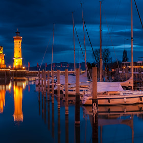 Hafen Lindau, Bodensee Germany by Bogdan D Photographer