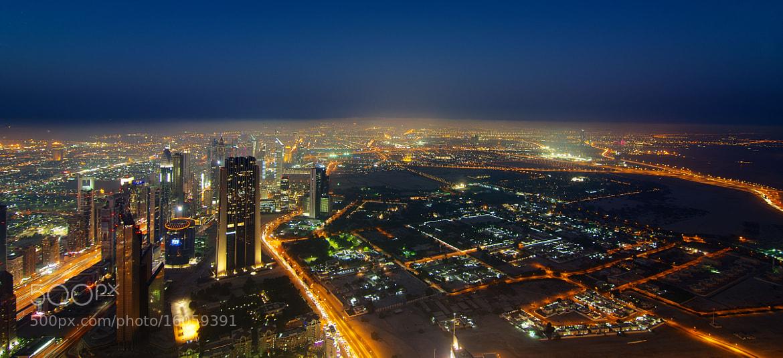 Photograph Dubai Lightscape by Håvard Bartnes on 500px