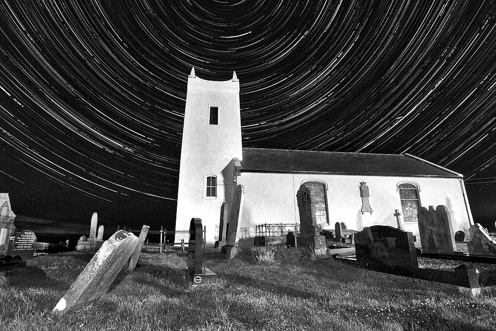 Photograph Ballintoy Startrails by Alastair Stockman on 500px