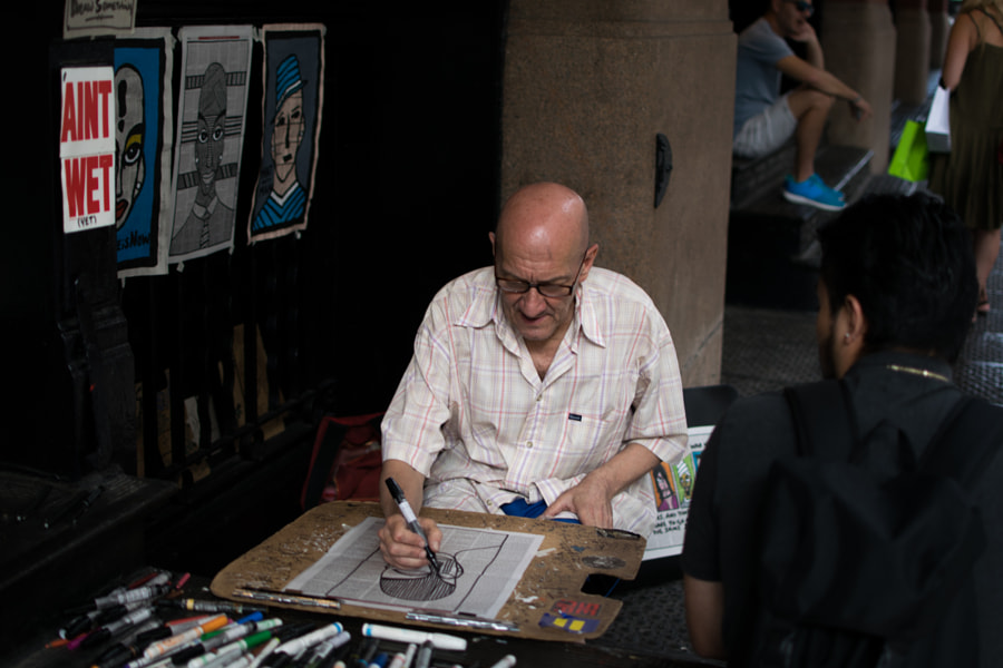 Soho artist by John Althouse Cohen on 500px.com