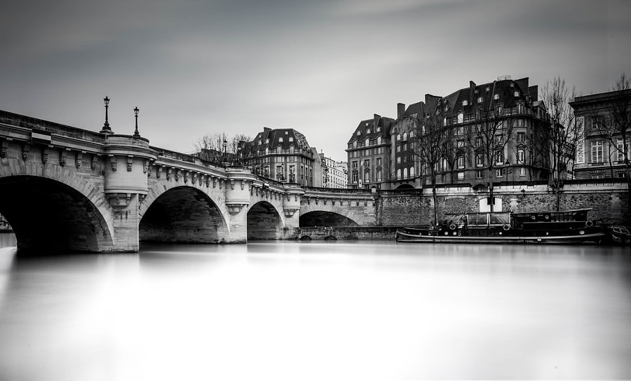 Pont Neuf Paris in Black and White