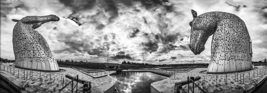 Kelpies panorama