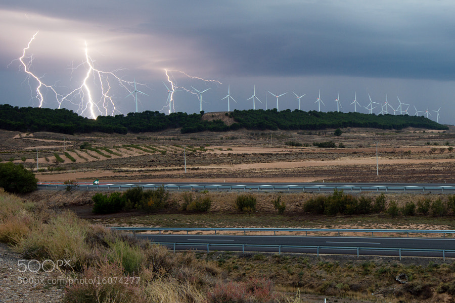 Windmills and lightning