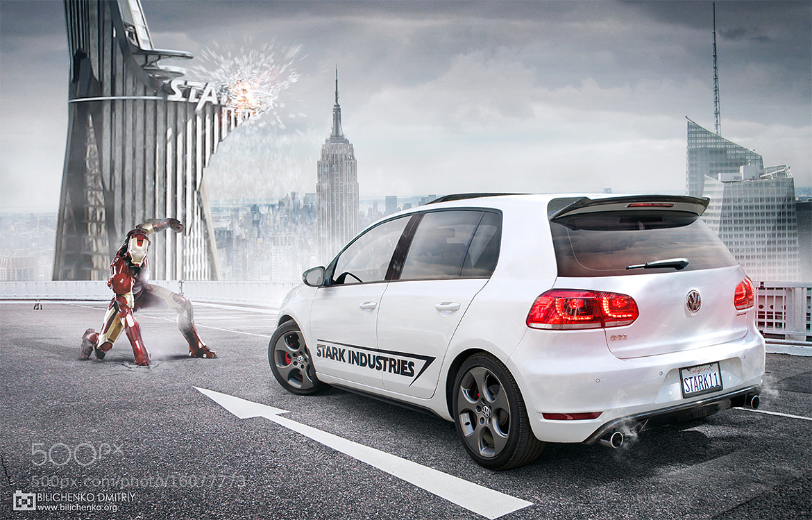 Photograph Volkswagen Golf GTI — Iron Man: Special Stark's Car   by Dmitriy Bilichenko on 500px