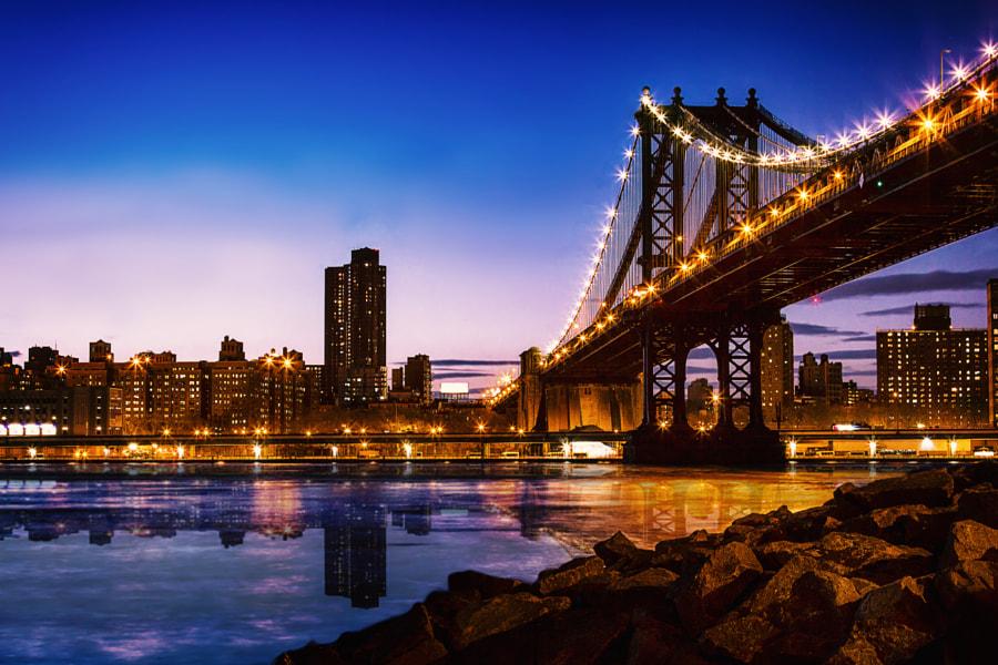 Blue Hour @ Manhattan Bridge