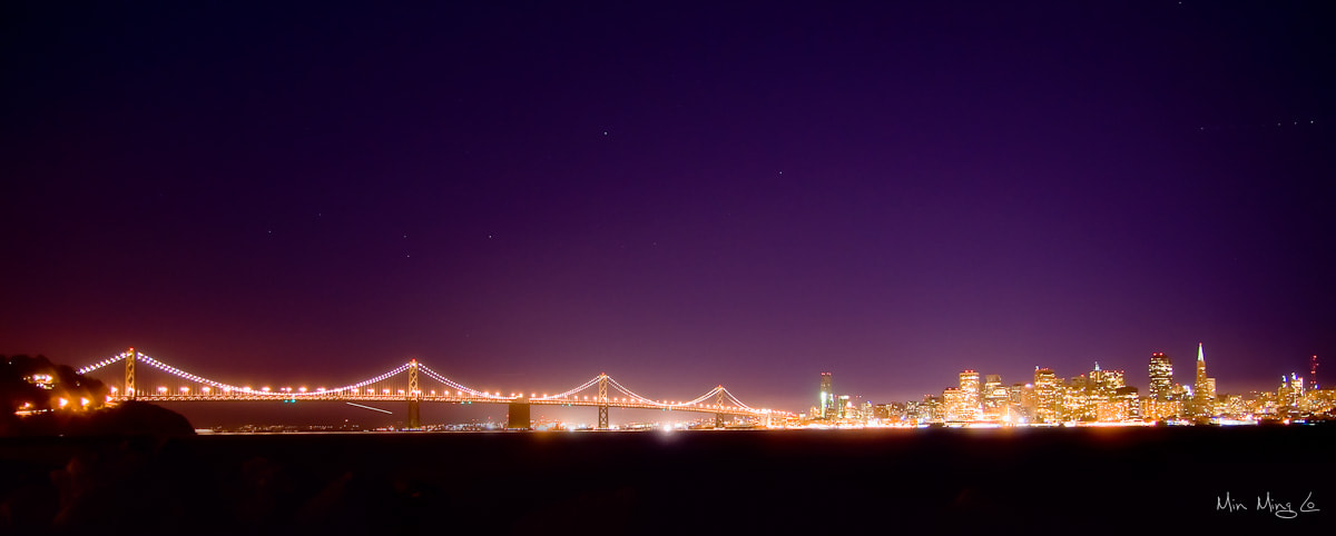 Photograph SF Bay Bridge Night 2 by Min Ming Lo on 500px