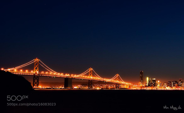 Photograph SF Bay Bridge Night by Min Ming Lo on 500px