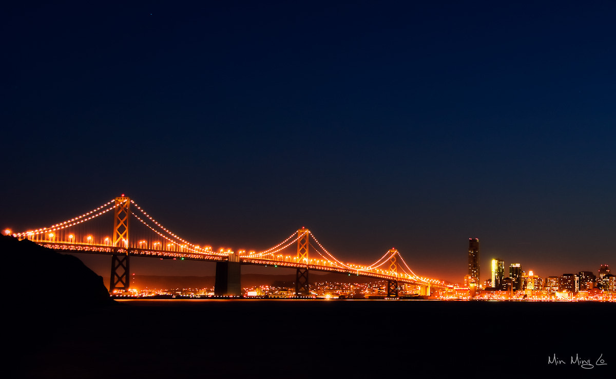 Photograph SF Bay Bridge Night by Min Ming Lo on 500px