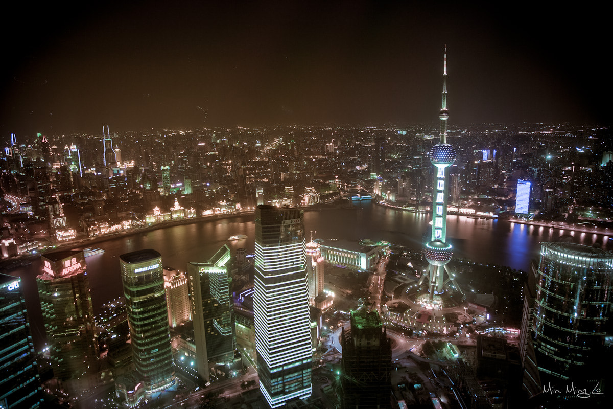 Photograph Shanghai Night Sky by Min Ming Lo on 500px