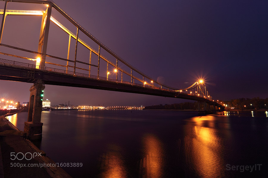 Photograph Night bridge and city lights by Sergiy Trofimov on 500px
