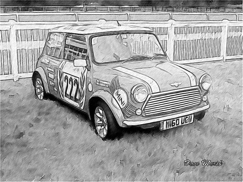 Photograph oil painting of red mini by Dave Marsh on 500px