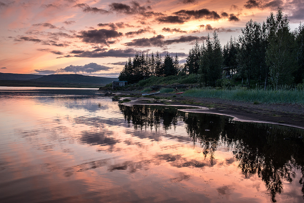 Photograph Sunset by the lake by Ómar  Smith on 500px
