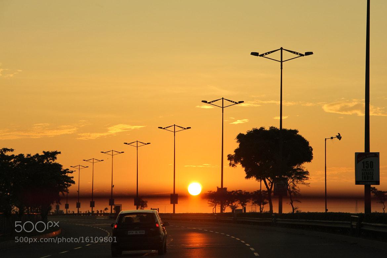 Photograph Sunrise on Highway by Himanshu Sachdeva on 500px