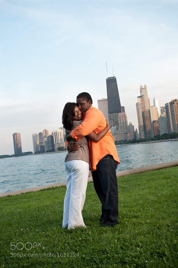 An engagement photo shoot with a lovely young couple in Chicago