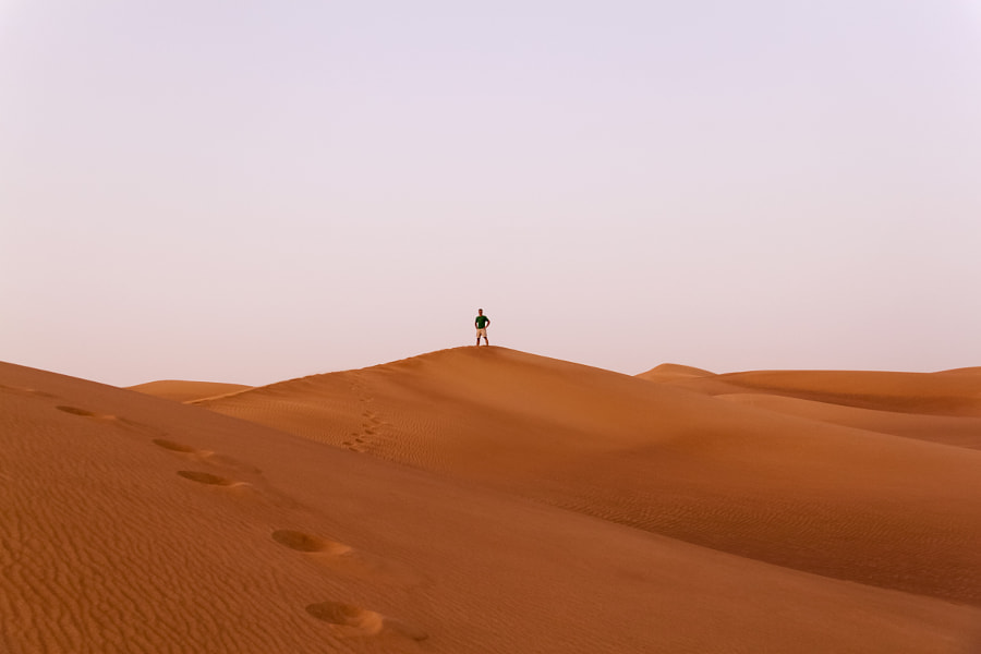 Man on the sand hill by ???? ????? on 500px.com