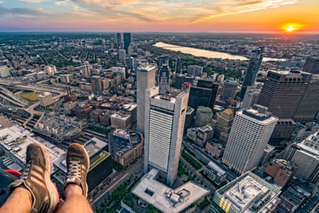 Feet Over Boston by Adriana Manni on 500px