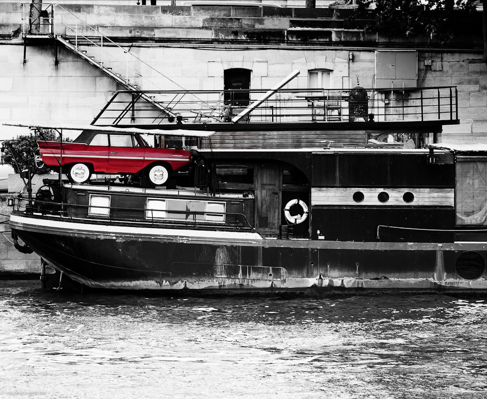 Photograph Red car on a boat by Stephane Graziani on 500px