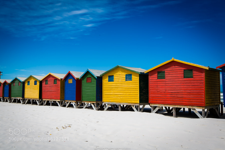 Photograph Muizenberg Beach Huts by Markus Seidel on 500px