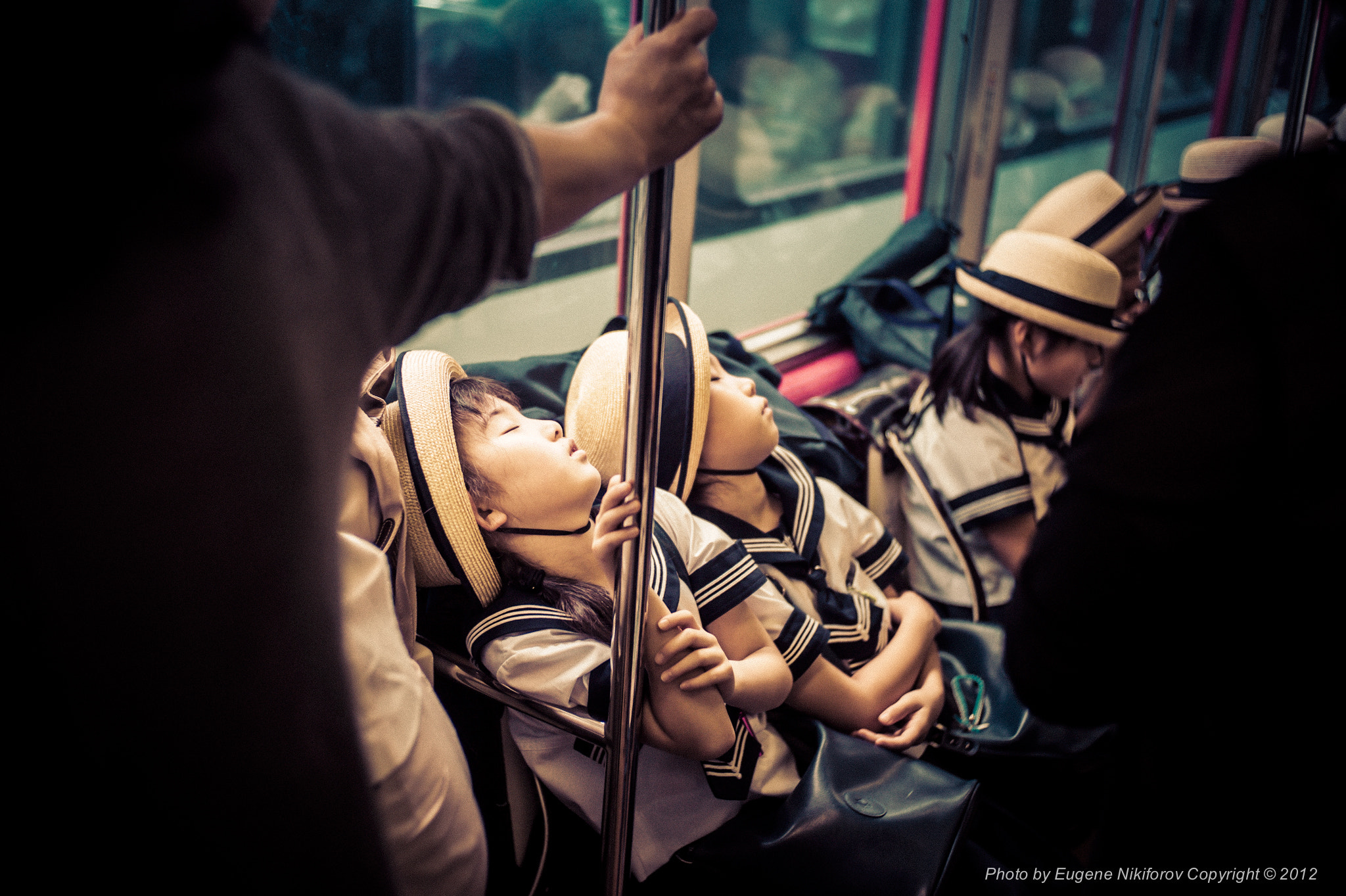 Photograph Too tired after school… Hakone Station, Japan by Eugene Nikiforov on 500px