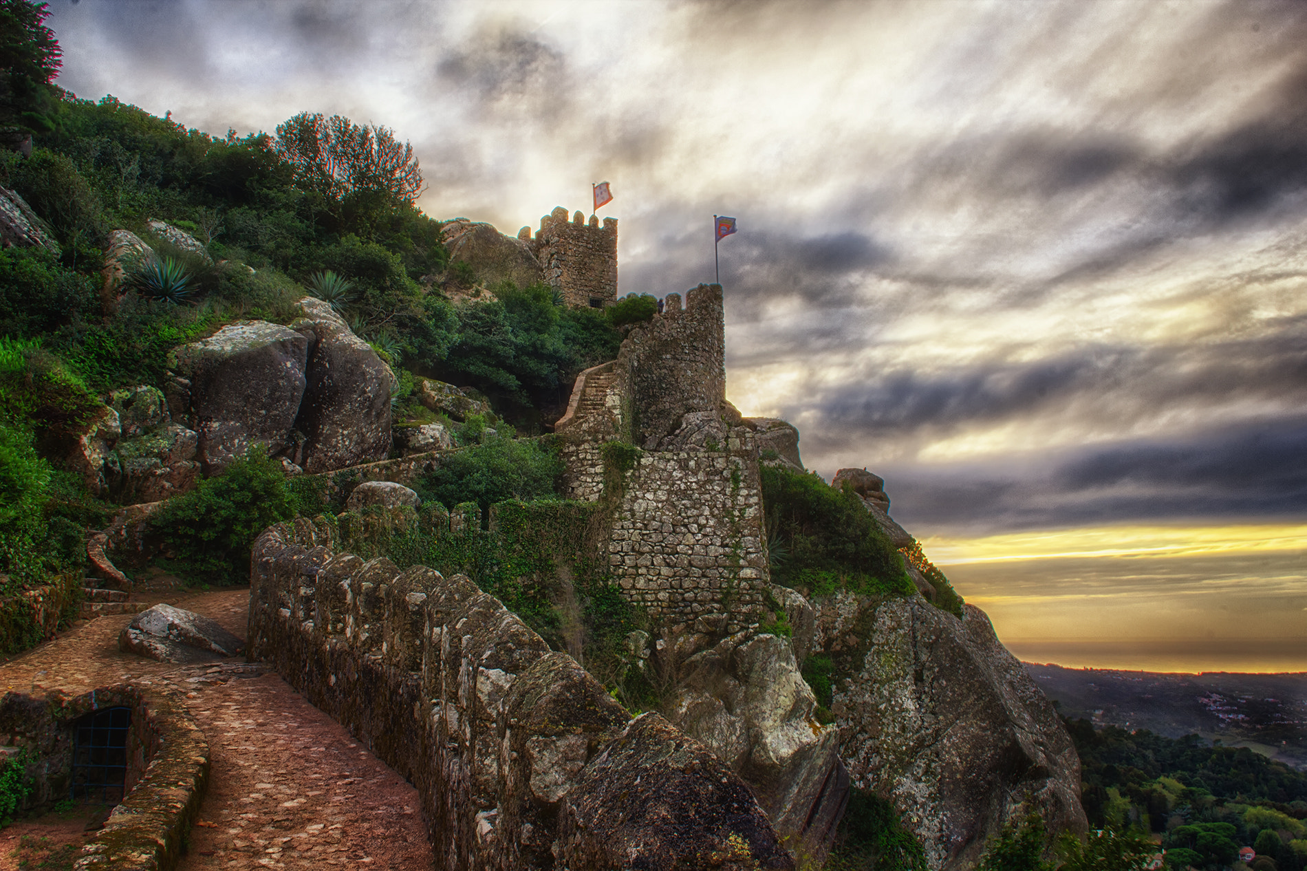 Photograph Castle of the Moors, Sintra, Portugal by Taylor Moore on 500px