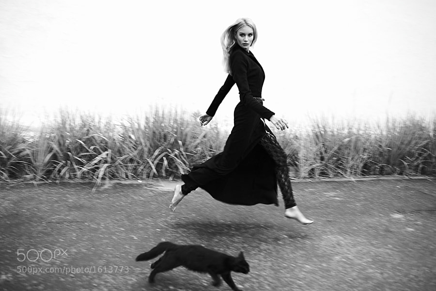 Photograph Girl and Cat by GARIPOVRUSTEM  on 500px
