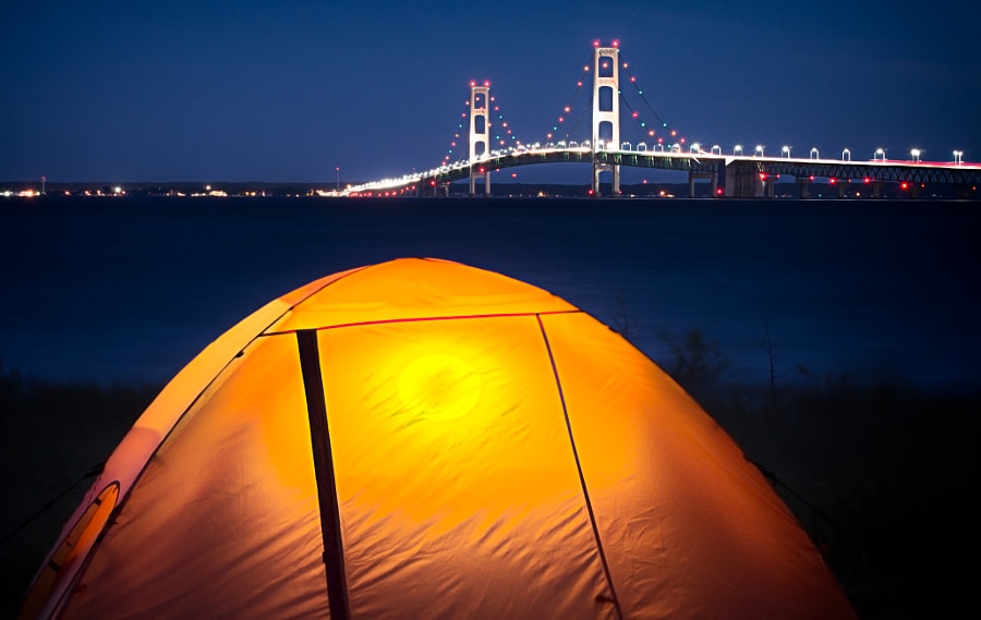 Tent at the Mackinac Bridge by Christopher Mowers on 500px.com