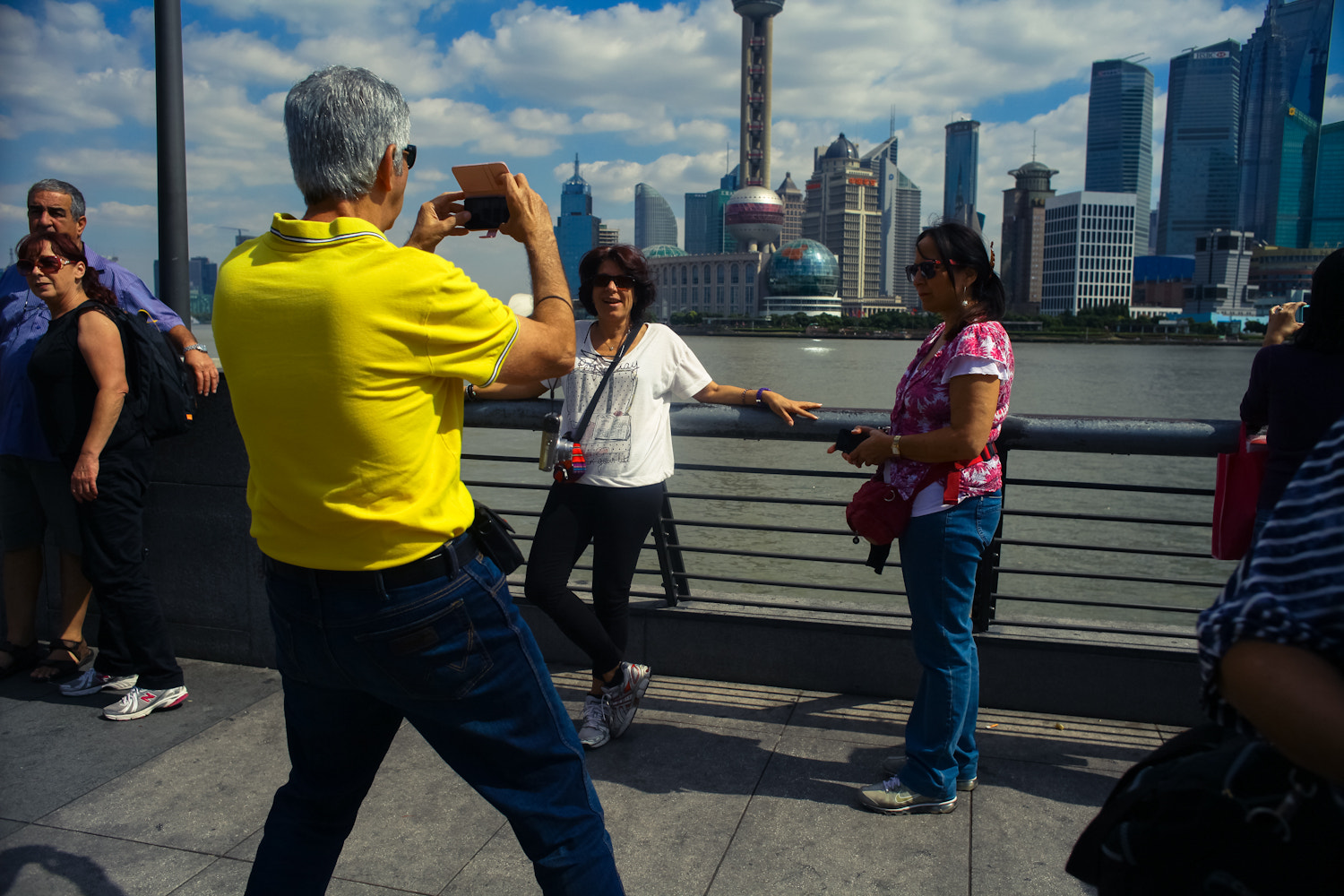 Photograph tuorists took photo at bund of shanghai by jacky mao on 500px