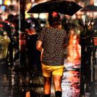 when it rain...it pours - umbrella - $1,200 - Louis Vuitton - t-shirt - $500 - D&G - silk shorts - $400 - Valentino - sox - $70 - CK - shoes $600 - ferragamo