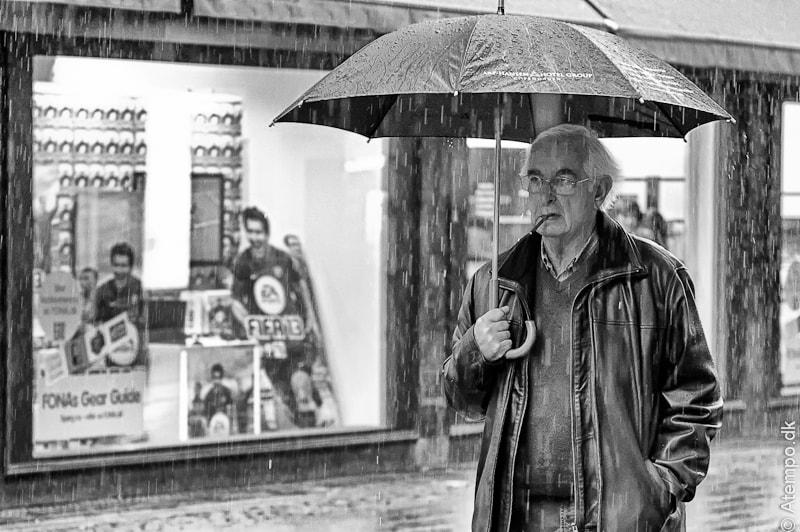 ... smoking in the rain