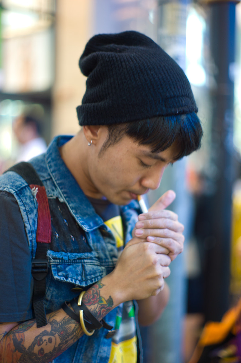 Photograph The Smoker of Causeway Bay by Al Goye on 500px