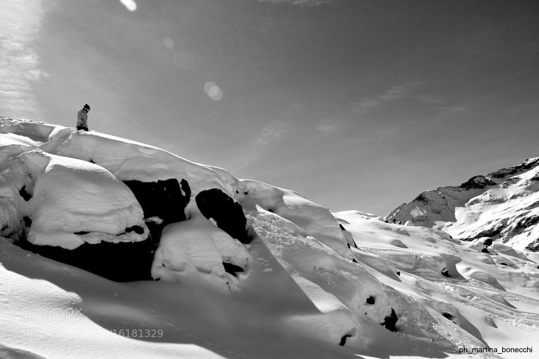Photograph man vs. snow by Martina Bonecchi on 500px