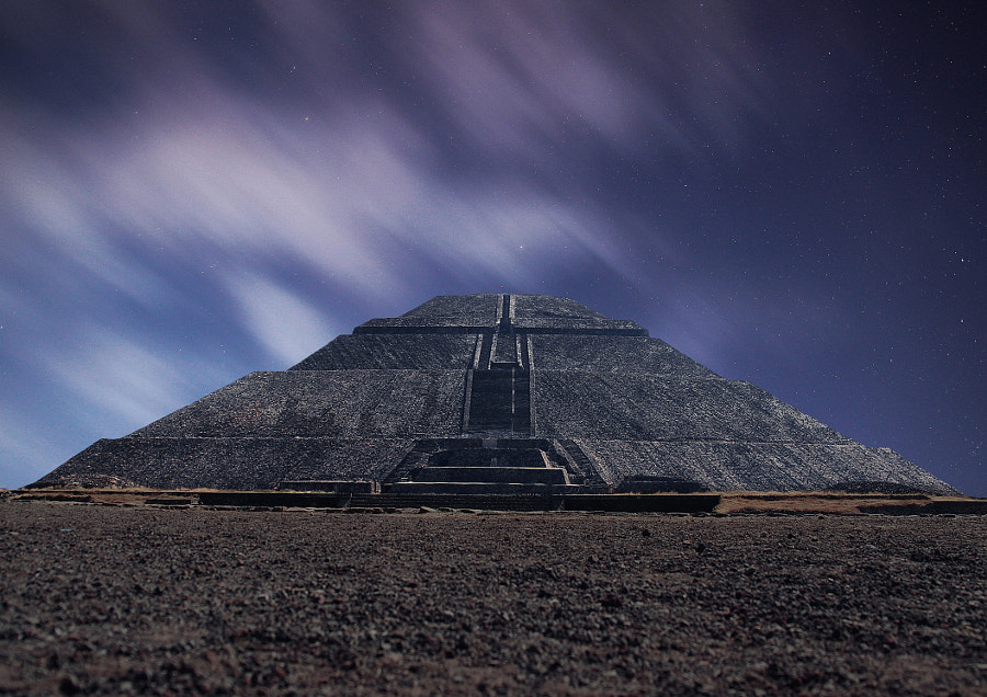 Sun Pyramid By Night (Teotihuacan, Mexico)