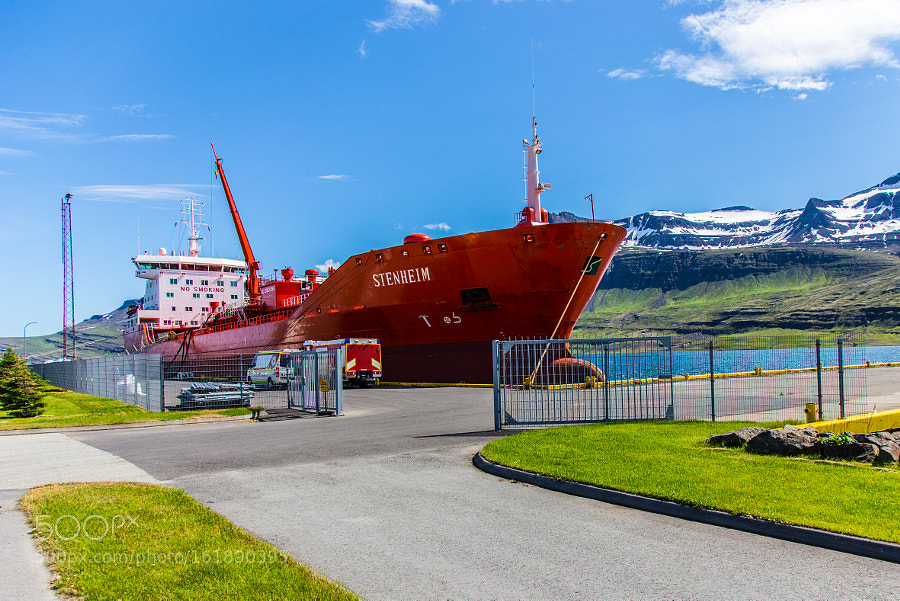 A ship in the Eastfjords of Iceland