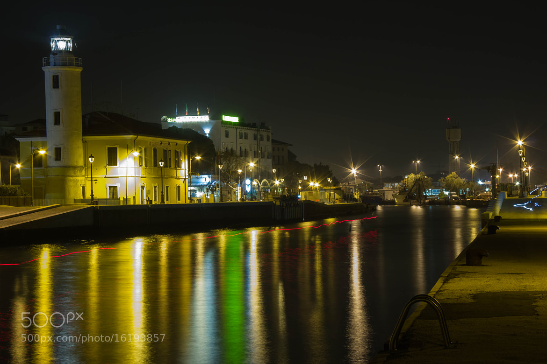 Photograph Porto Canale Cesenatico by night by Christophe Fustinoni on 500px