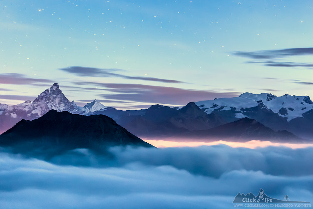 Photograph Matterhorn and Monte Rosa Glaciers by Francesco Vaninetti on 500px