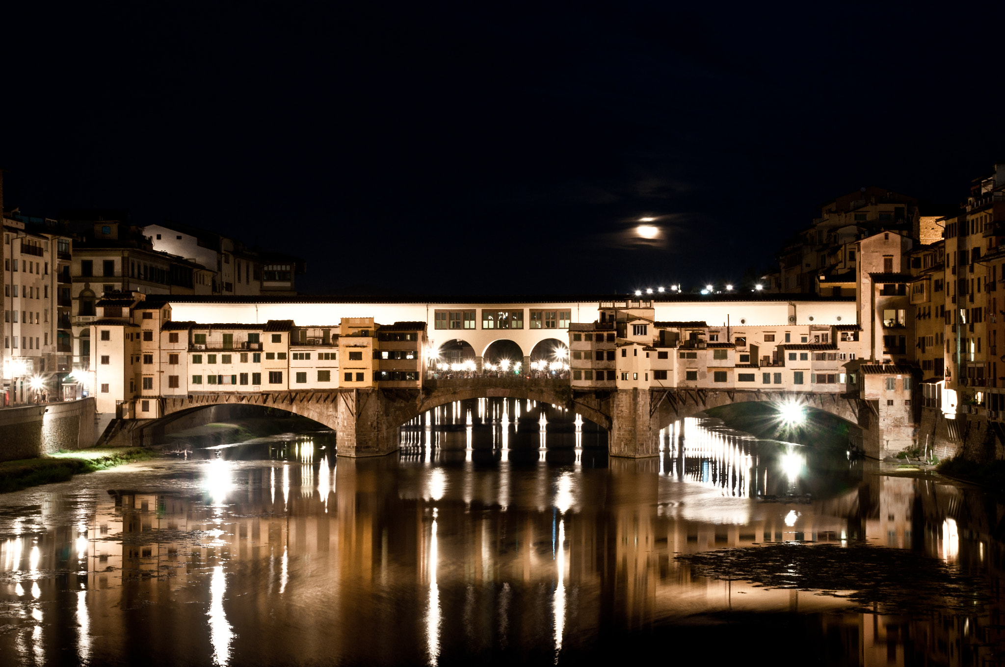 Photograph Ponte Vecchio at night by Felix Chan on 500px
