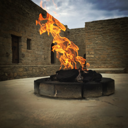 Everlasting fires at the Fire Temple in Azerbaijan