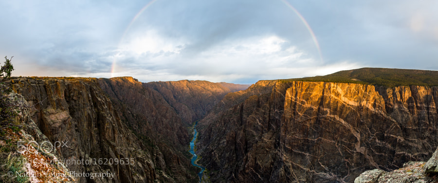 Rainbow Over Black Canyon by Nate Y (albinoyoungn)) on 500px.com